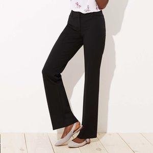 LOFT Custom Stretch Trouser Pants Marisa Fit Black